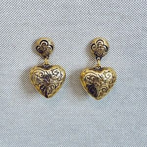 Brighton Gold Heart Earrings